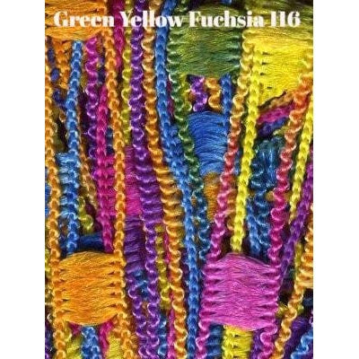 Dazzle Yarn Green Yellow and Fuschia - 10