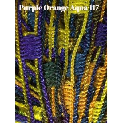 Dazzle Yarn Purple Orange and Aqua - 11