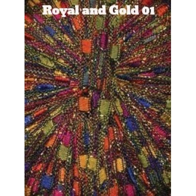Dazzle Metallic Yarn Royal and Gold 01 - 1