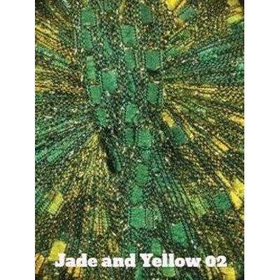 Dazzle Metallic Yarn Jade and Yellow 02 - 2
