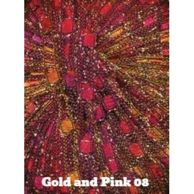 Dazzle Metallic Yarn Gold and Pink 08 - 8