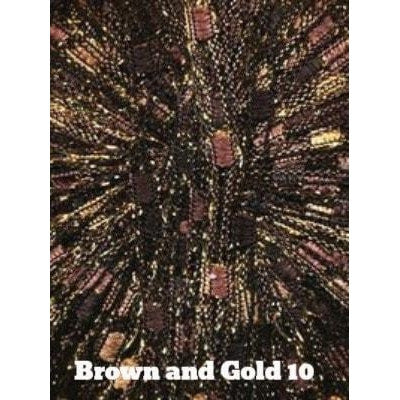 Dazzle Metallic Yarn Brown and Gold 10 - 10