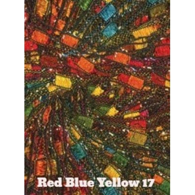 Dazzle Metallic Yarn Red Blue Yellow 17 - 17
