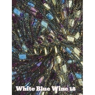 Dazzle Metallic Yarn White Blue Wine 18 - 18