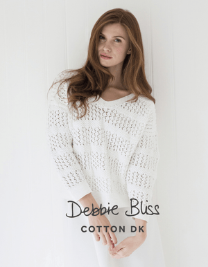 Debbie Bliss Lace and Moss Stitch Sweater Pattern-Patterns-