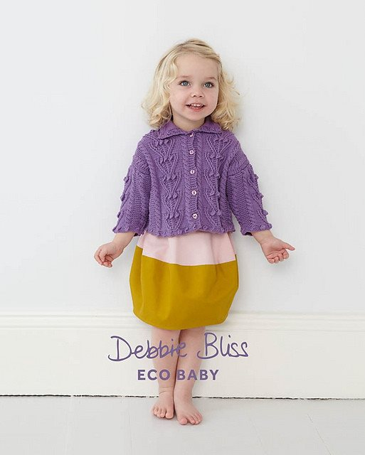 Debbie Bliss Bobble & Cable Cardigan Pattern