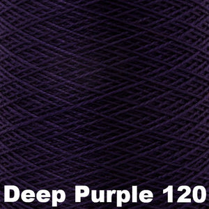 3/2 Mercerized Perle Cotton-Weaving Cones-Deep Purple 120-