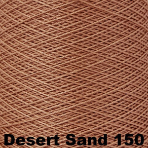 3/2 Mercerized Perle Cotton-Weaving Cones-Desert Sand 150-
