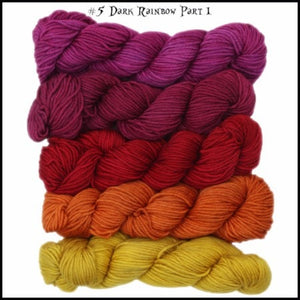 WonderLand Yarns Cheshire Cat - 5 Mini Skein Pack-Yarn-Dark Rainbow pt1-
