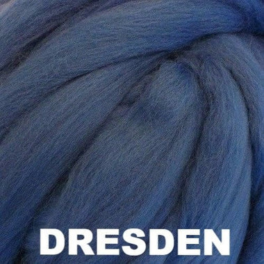Paradise Fibers Ashland Bay Solid Colored Merino Wool Top - Dresden