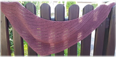 Drop Canyon Shawl Pattern by Taiga Hilliard-Patterns-Paradise Fibers