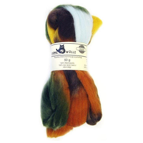 Artfelt Multi Colored Merino Standard Rovings Earth 1660 - 4