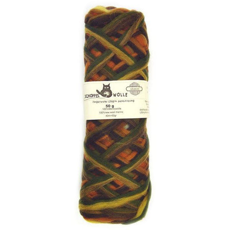 Artfelt Multi Colored Merino Pencil Rovings Earth 1660 - 4
