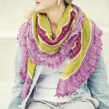 Ennui Shawl Kit Featuring Cotton Fleece-Kits-Paradise Fibers