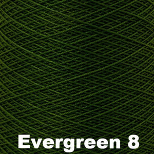 3/2 Mercerized Perle Cotton-Weaving Cones-Evergreen 8-