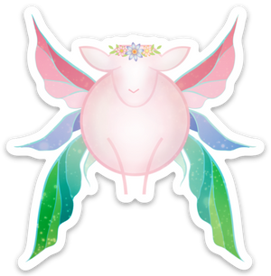 Paradise Fibers Sheep Stickers-Stickers-Fairy Ewe-