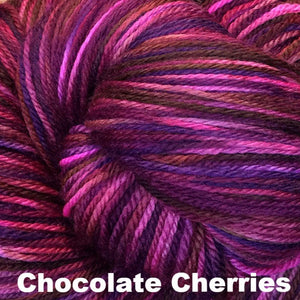 Fairy Fine Sock Yarn-Yarn-Chocolate Cherries-