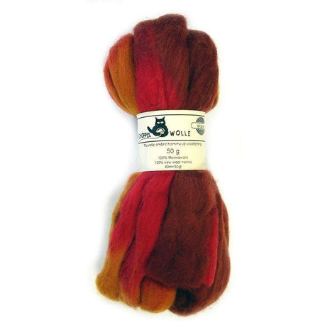 Artfelt Multi Colored Merino Standard Rovings Fall In Vermont 1874 - 9