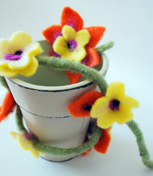 De Witte Engel Felting Flower Kit-Kits-