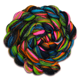 Paradise Fibers Multi Colored Superfine Merino Stellina/Glitter Blend - Firework