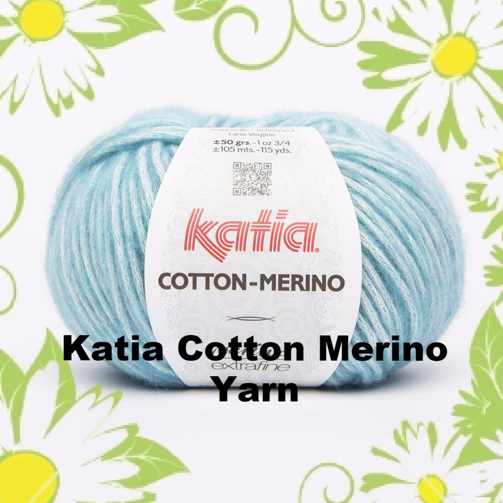 Paradise Fibers Yarn Katia Cotton Merino Yarn  - 1