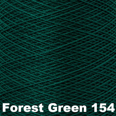 5/2 Perle Cotton 1lb Cones Forest Green 154 - 61