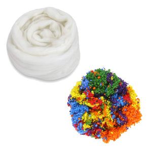 rainbow cake frosted cake fiber bundle