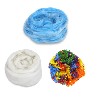 Blueberry pie frosted cake fiber bundle