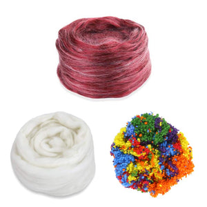ruby red cake frosted cake fiber bundle