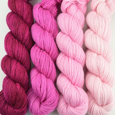 Paradise Fibers Yarn Artyarns Merino Cloud Gradient Kit Fuschias - 6