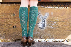 Juniper Moon Farms Gallium Knee Socks Pattern-Patterns-