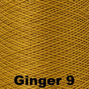 3/2 Mercerized Perle Cotton-Weaving Cones-Ginger 9-