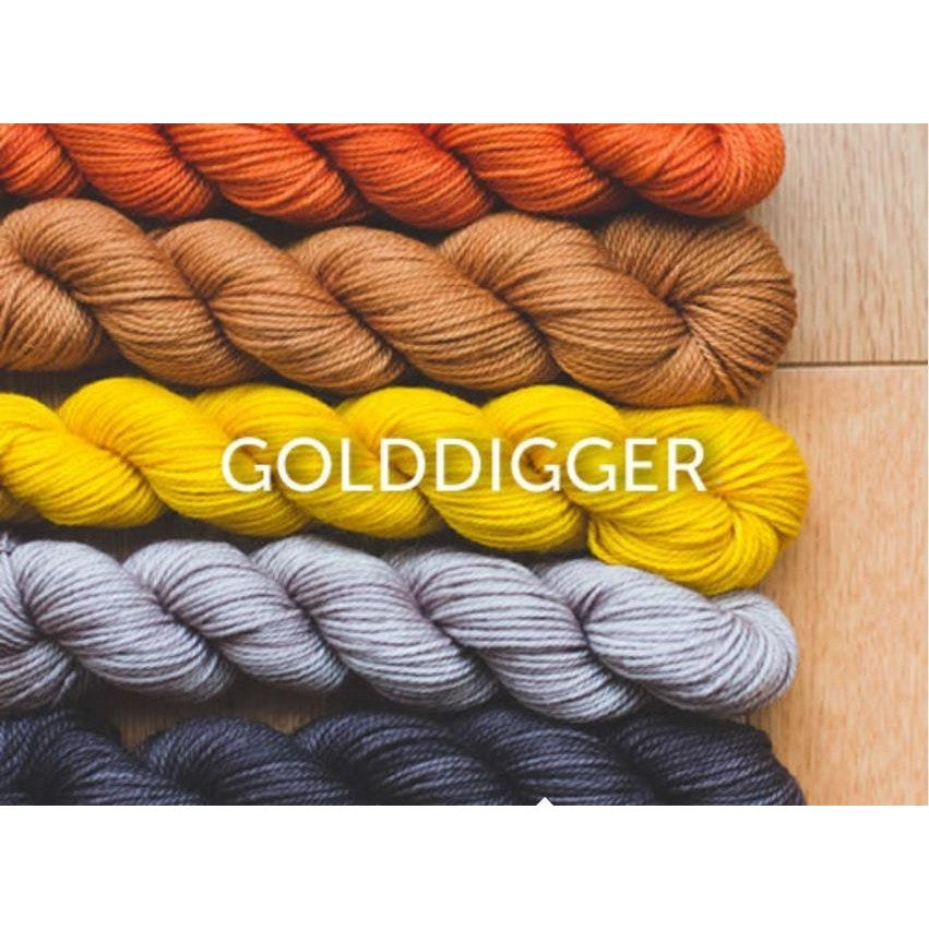 Sweet Georgia Yarns Party of Five Mini-Skein Sets Golddigger - 4