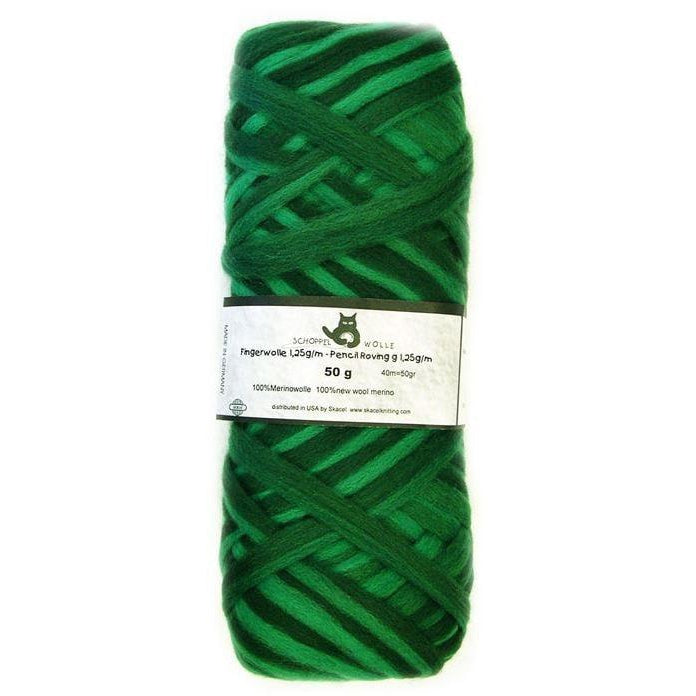 Artfelt Multi Colored Merino Pencil Rovings Grass Green 1966 - 14