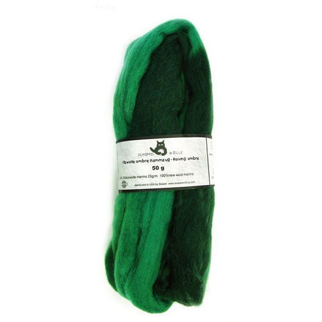 Artfelt Multi Colored Merino Standard Rovings Grass Green 1966 - 14