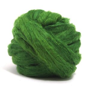 Paradise Fibers Solid Color Tussah Silk Top-Fiber-4oz-Grass-