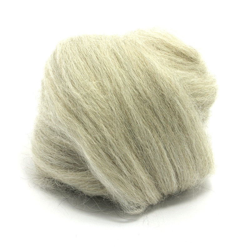 Paradise Fibers Baby Alpaca Roving Grey / 4oz - 5
