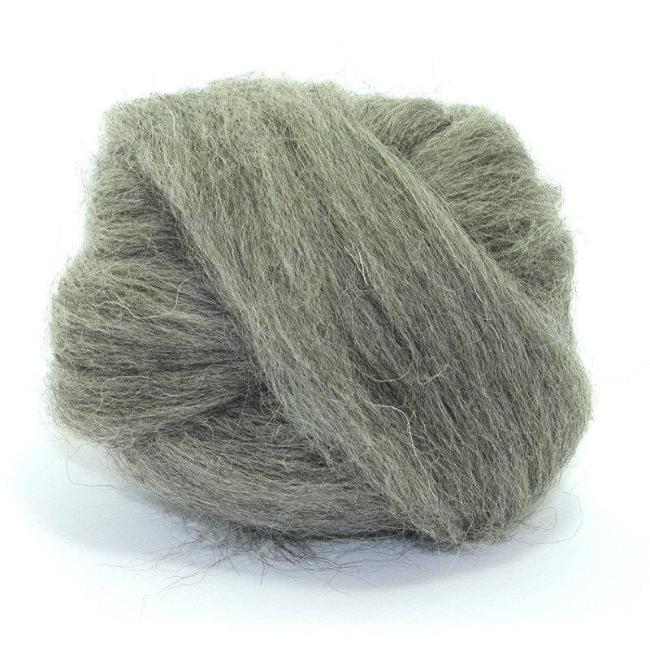 Paradise Fibers Norwegian Wool Tops (4 oz bag) Grey