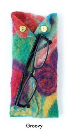 Artfelt Abstract Eyeglass Case Felting Kit Groovy - 2