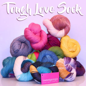 Sweet Georgia Tough Love Sock - Variegated-Yarn-Amethyst-