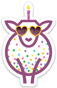 Paradise Fibers Sheep Stickers-Stickers-Happy Birthday to EWE-