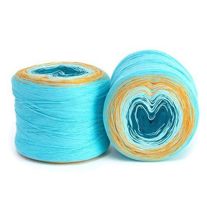 Hikoo Concentric Cotton Yarn - Aquatic-Yarn-Paradise Fibers