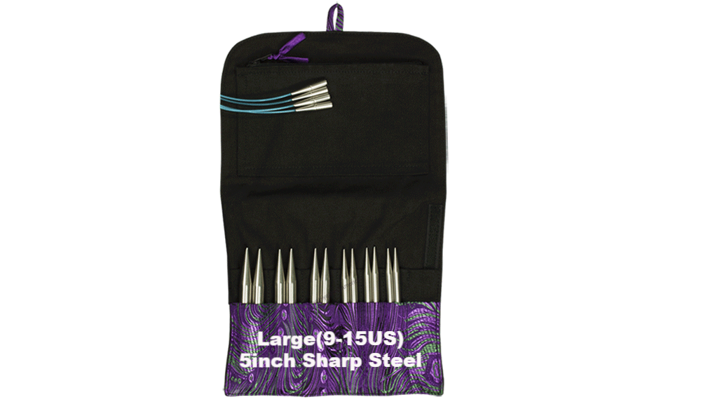 HiyaHiya Sharp Interchangeable Knitting Needle Set Large (9-15US) / 5 inch - 2