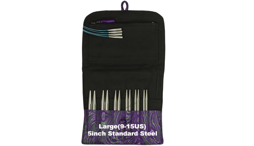 HiyaHiya Standard Interchangeable Knitting Needle Sets Large (9-15US) / 5 inch - 1