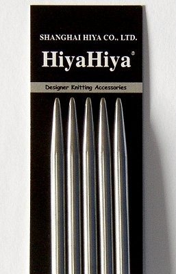 HiyaHiya 8inch Steel Double Pointed Needles-Knitting Needles-000-000US (0.7mm)-