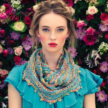 Louisa Harding Hollyhock Cowl Kit-Kits-Louisa Harding-Larkspur-Paradise Fibers