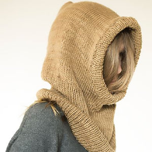 Hooded Cowl Kit in Harvest and Monokrom Worsted-Kits-Paradise Fibers