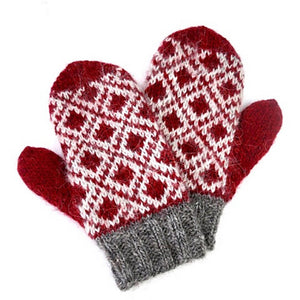 Humboldt Hallows Mittens Kit in Shetland Heather-Kits-Crimson Pride-