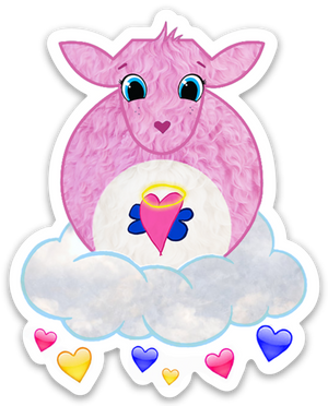 Paradise Fibers Sheep Stickers-Stickers-I Love Ewe-