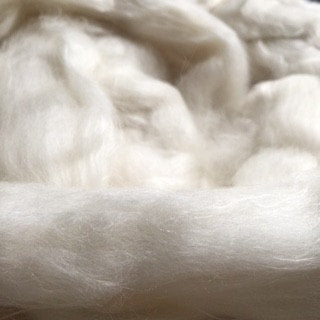 Paradise Fibers Fiber Ashland Bay Fine Merino/ De-Pigmented Yak/ Cultivated Silk Blend (4 oz bag)  - 1